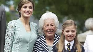 Королева Летиция, ее бабушка и дочь королевы, София