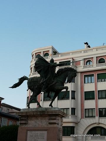 Эль Сид. Памятник Сиду в Бургосе. Juan Cristóbal González Quesada