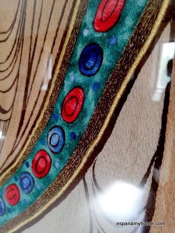 Детали вышивки   гобелена