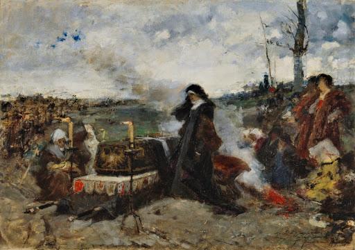 «Хуана над гробом мужа». Ф.Прадилья в Прадо.
