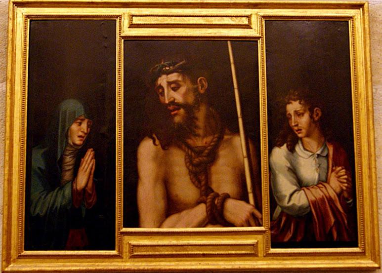 Ecce Homo с Богородицей и Святым Иоанном. Луис де Моралес, около 1550.