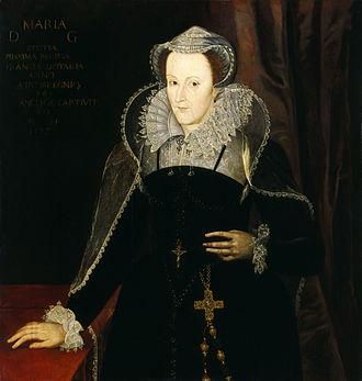 Мария Стюарт была дочерью короля Шотландии Якова V и французской принцессы Марии де Гиз. Именно она ввела в употребление офранцуженное написание имени династии Stuart, вместо ранее принятого Stewart.