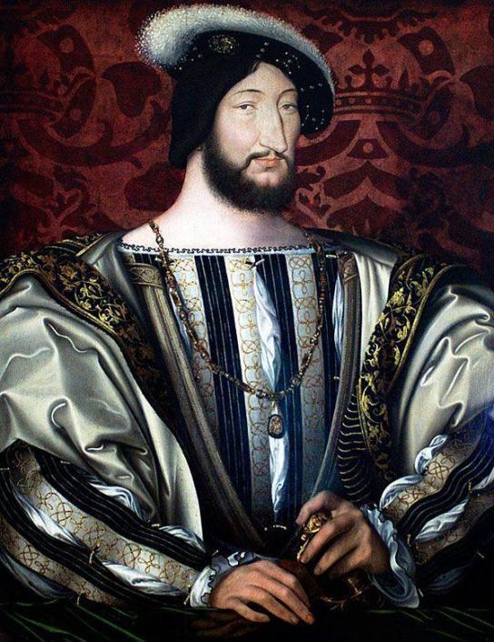 Франциск I  Французский. Автор: Жан Клуэ Музей: Лувр Год: Около 1525