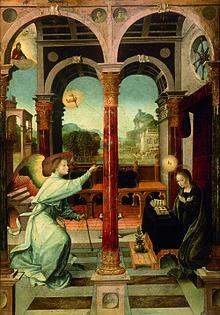 """Алехо Фернандес. """"Благовещение"""" 1508 Museo de bellas artes de Sevilla"""