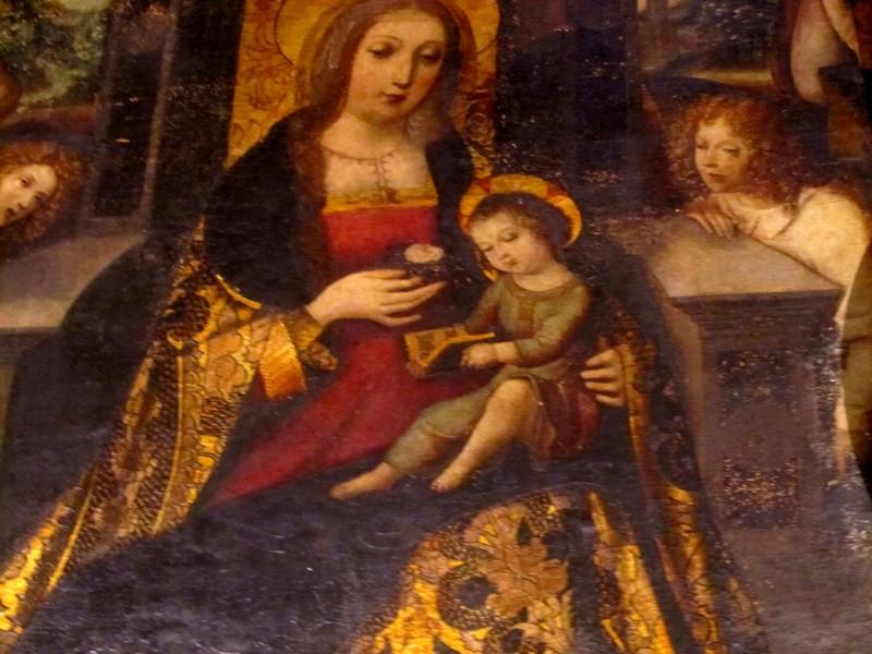 Мадонна с розой (ок. 1515 - 1520, церковь Санта Анна, Севилья);