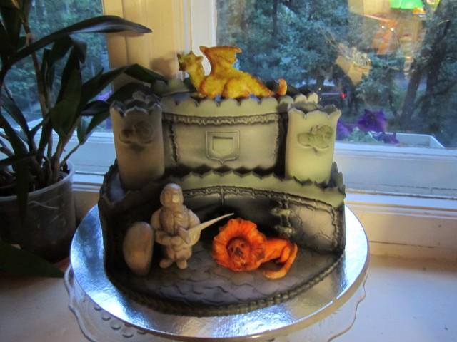 торт замок рыцарь