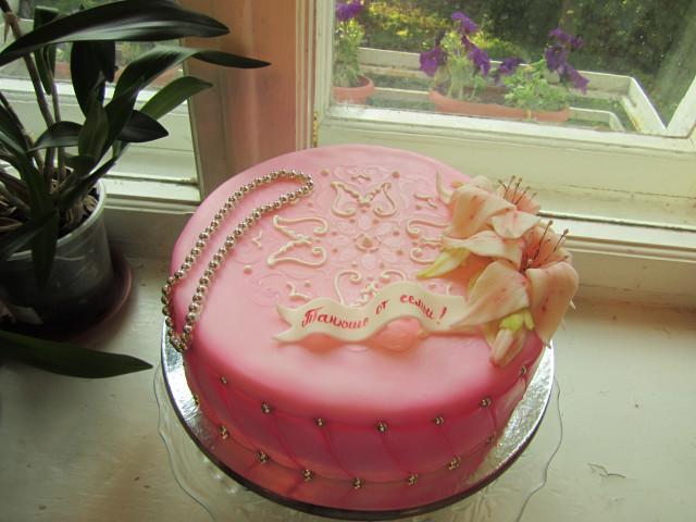 От одри торт шкатулка с лилиями