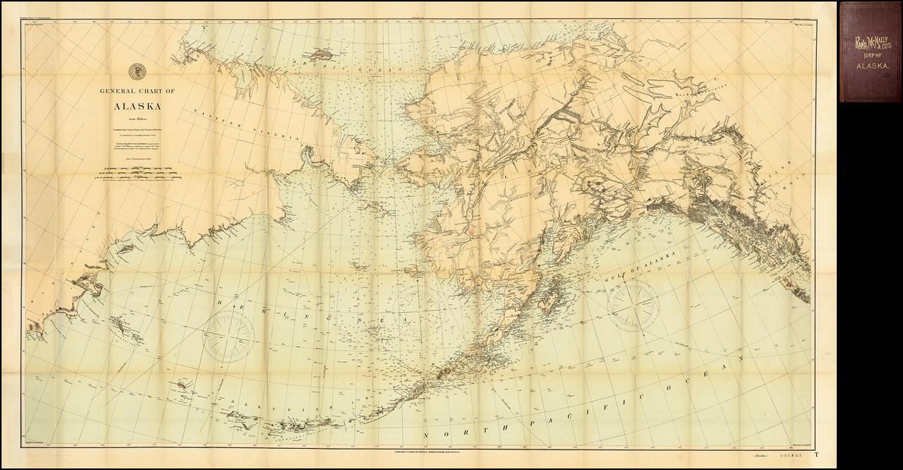 Rand McNally & Company  Эндрю Б. Грэм   Общая схема Аляски. Составлено из Соединенных Штатов и российских властей. Опубликовано в июне 1897 года..jpg