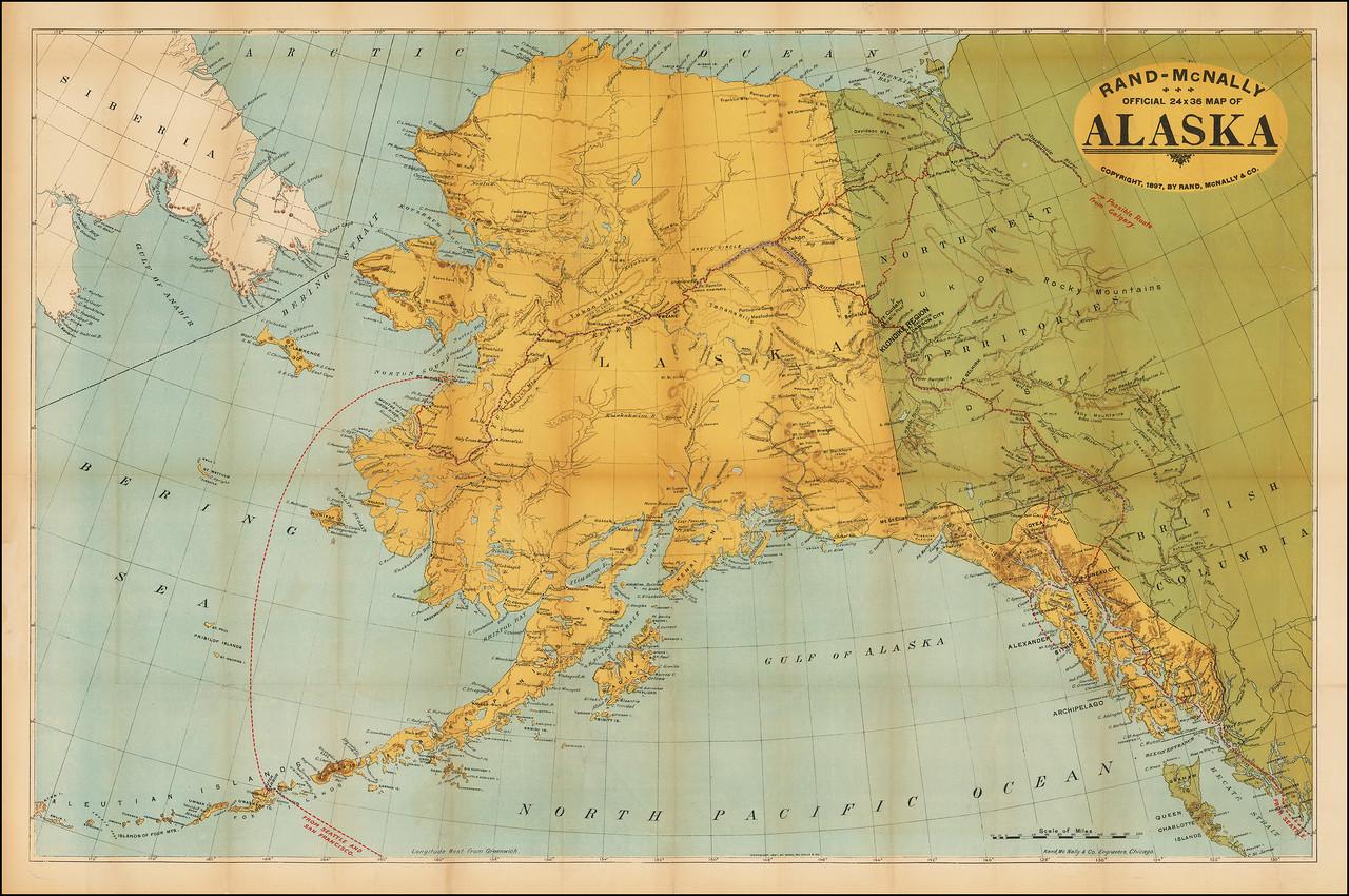 Rand-McNally Официальная 24 x 36 карта Аляски.jpg
