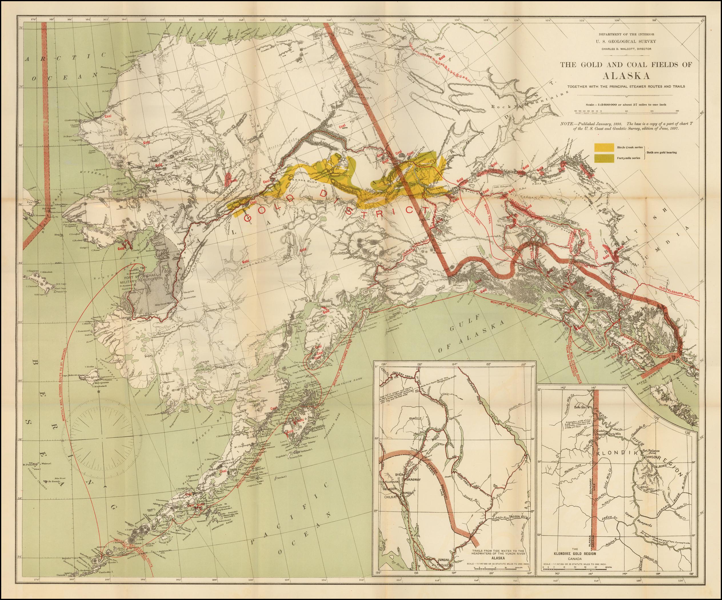 Золотые и угольные месторождения Аляски вместе с основными пароходными маршрутами и трассами..jpg