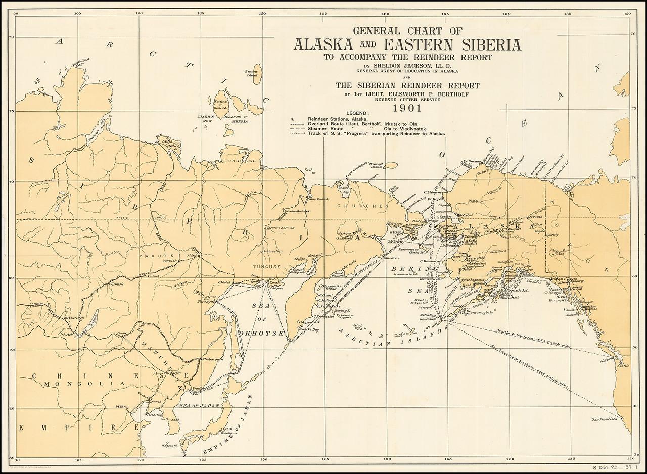 общая схема Аляски и Восточной Сибири, чтобы сопроводить отчет оленя.jpg
