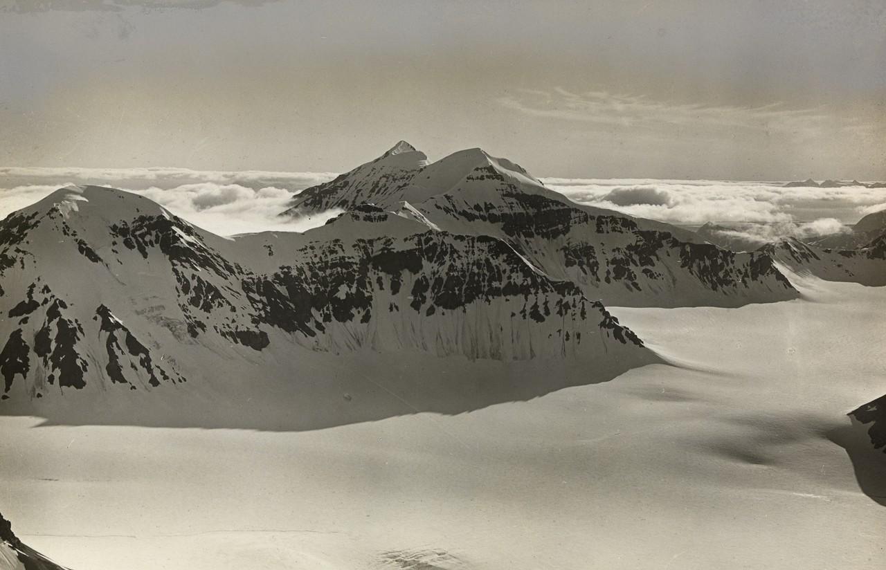 Luftbild von Svalbard