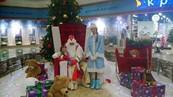 Аня с Дедом Морозом!