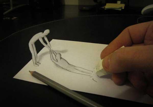 Итальянский художник показал людям, как зрение обманывает разум 1