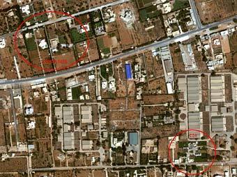 Карта с обозначением базы ЦРУ в Бенгази. Фото с сайта cryptome.org