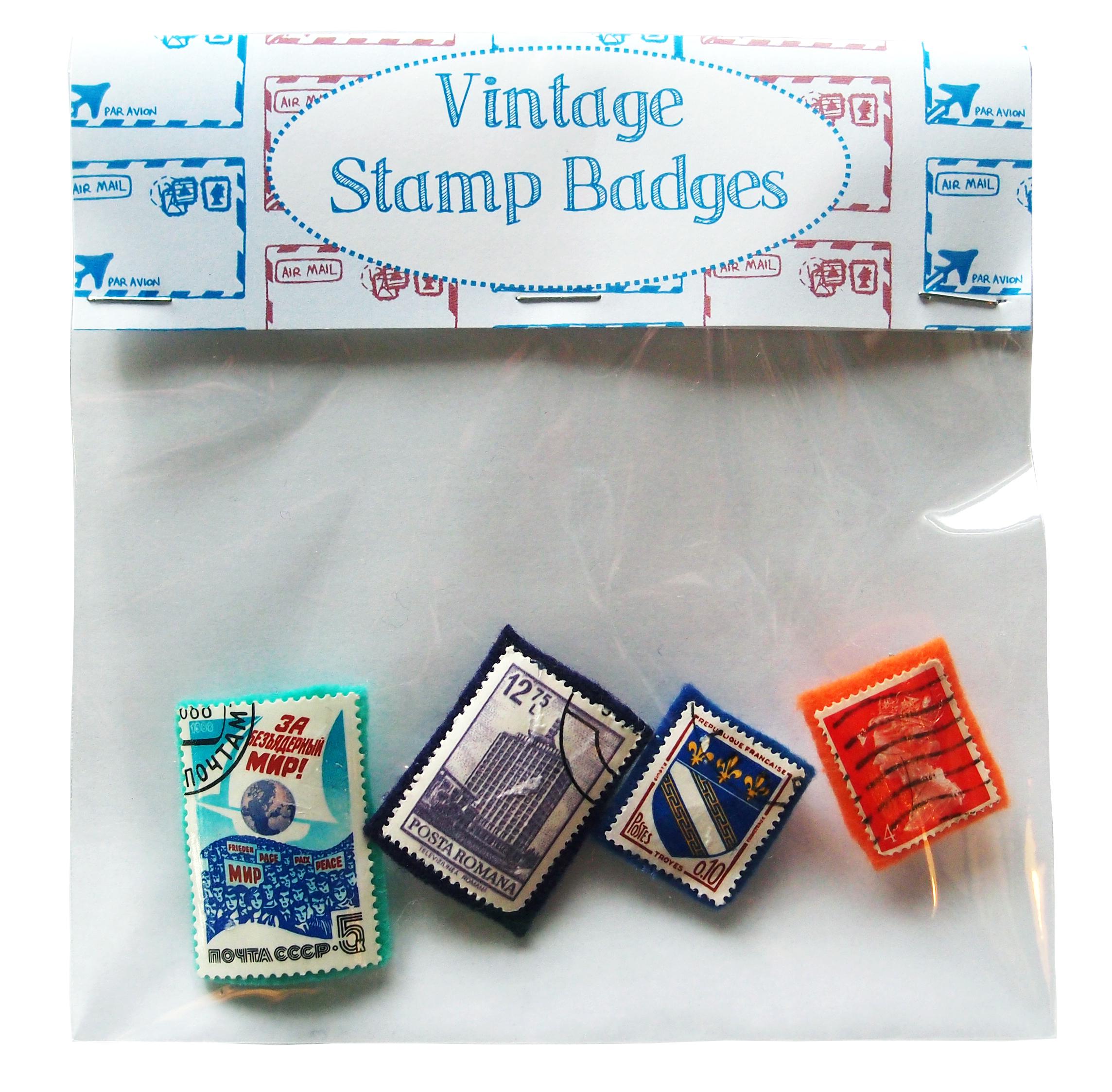 stamp badges bag small