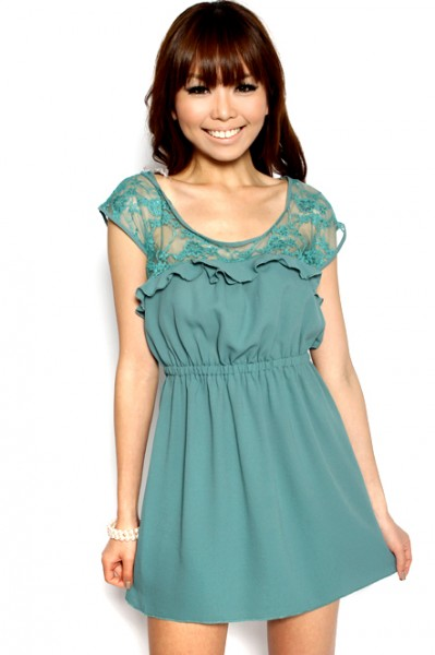MDS Amber Lover Frock in Green_2