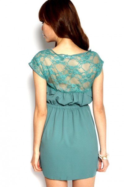 MDS Amber Lover Frock in Green_3
