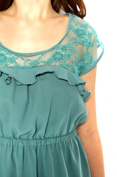 MDS Amber Lover Frock in Green_4