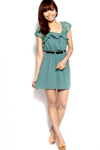 MDS Amber Lover Frock in Green_5