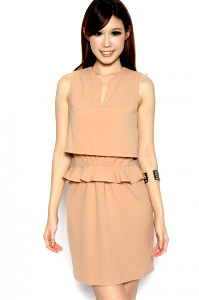 MDS Broadcast Worthy Dress in Nude_2