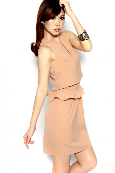 MDS Broadcast Worthy Dress in Nude_3