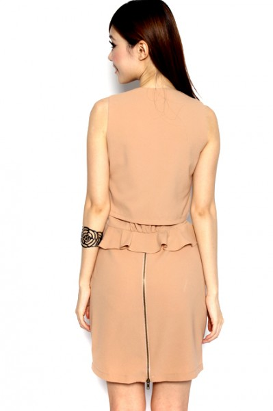 MDS Broadcast Worthy Dress in Nude_4