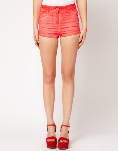 ASOS High Waisted Denim Shorts In Ombre Finish2