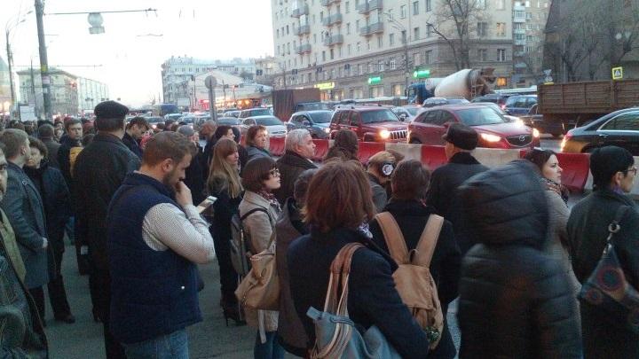 Пробка на Садовом кольце около Курской