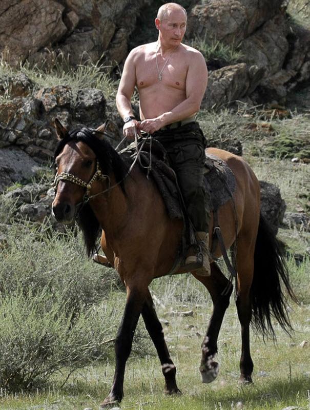 Путин топлесс