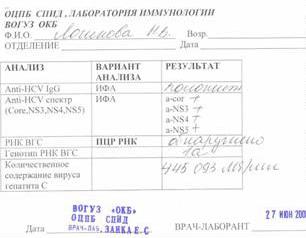 Анализ крови пцр на гепатит медицинская справка в уфмс для получения разрешения на временное проживание