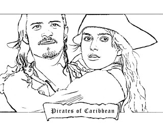 Pirates of caribbean coloring page color your life for Coloring pages of pirates of the caribbean
