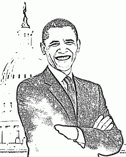the panfandom coloring book - Barack Obama Coloring Book