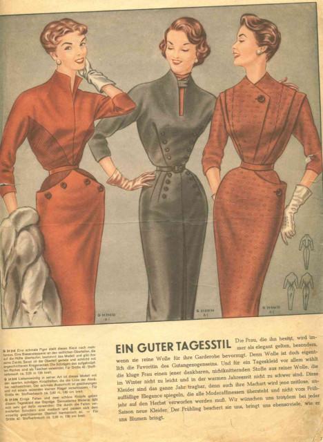 настоящее фасоны платьев из немецких журналов мод формально