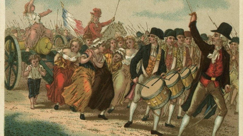 Сейчас описывается как революционный поход на Версаль, хотя по моему та же самая культовая процессия