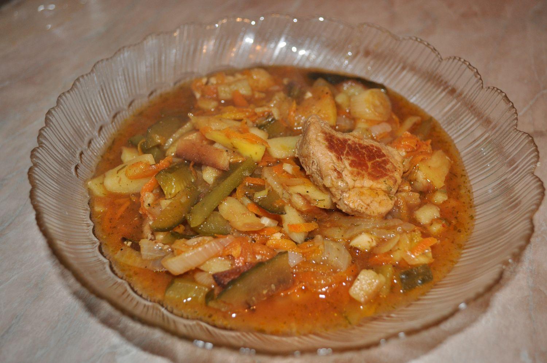 Азу с солеными огурцами и сливками рецепт
