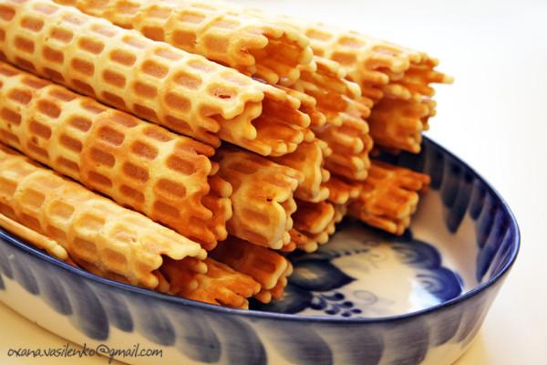 Рецепт сладких трубочек для вафельницы