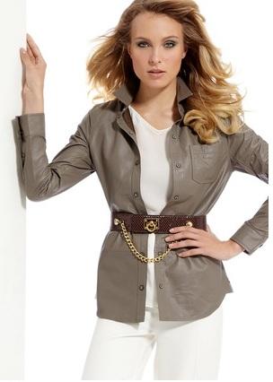 Кожаные Блузки