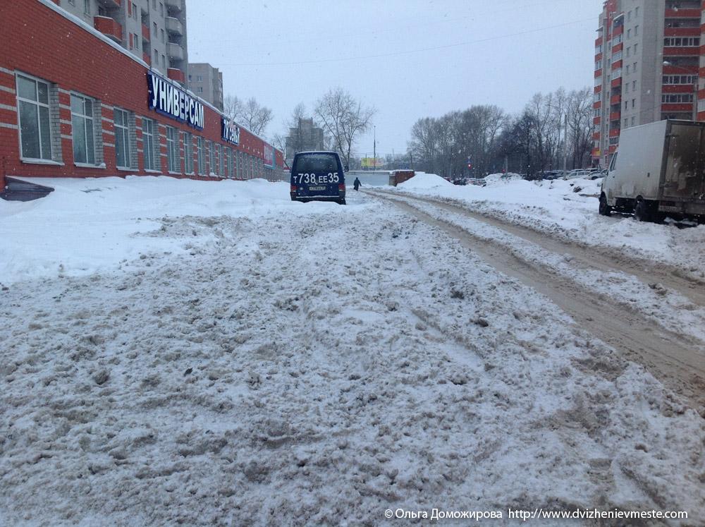 Зимняя дорога на коляске в Вологде (3)