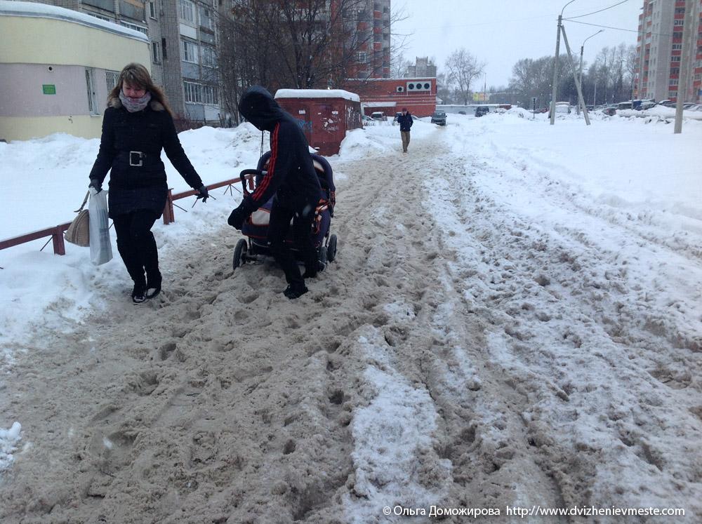 Зимняя дорога на коляске в Вологде (5)