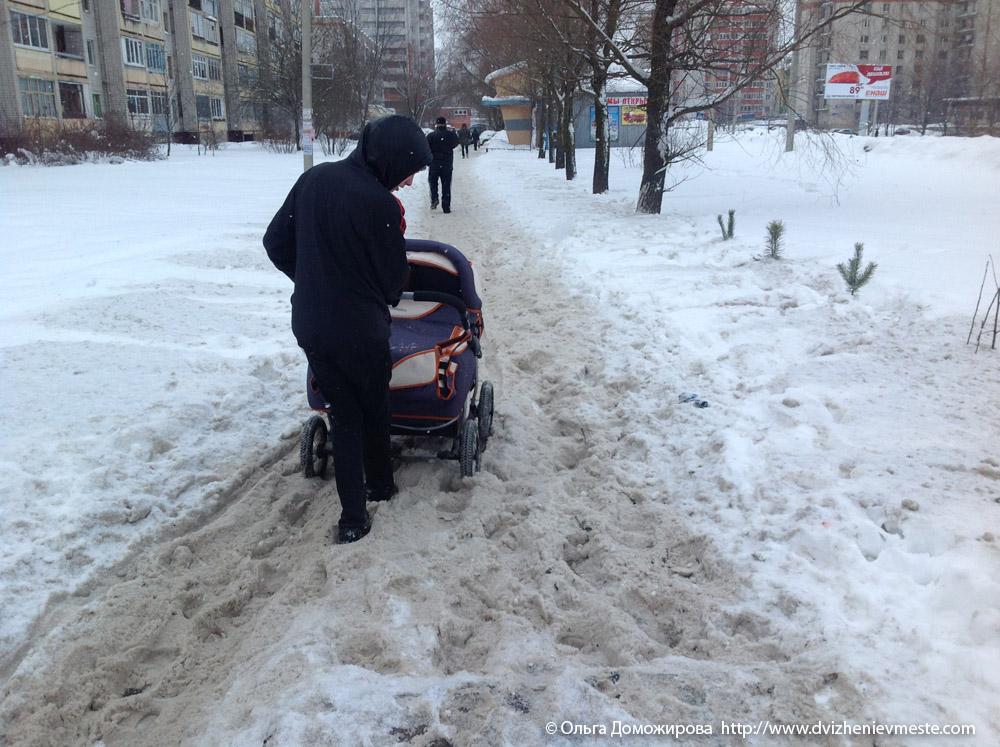 Зимняя дорога на коляске в Вологде (7)