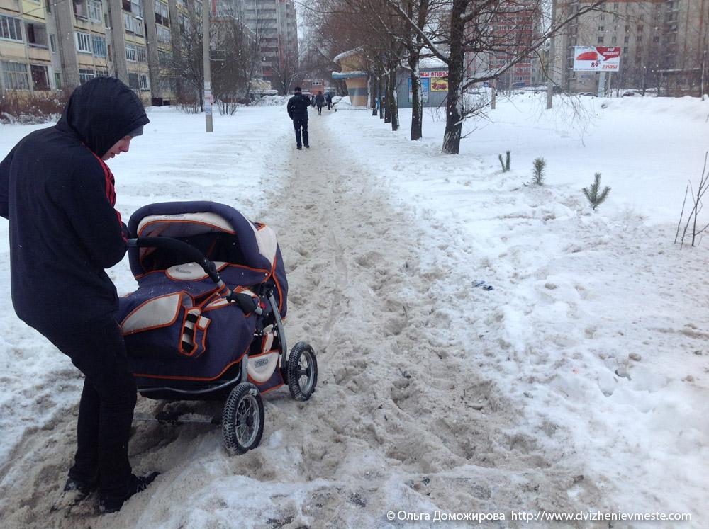 Зимняя дорога на коляске в Вологде (8)