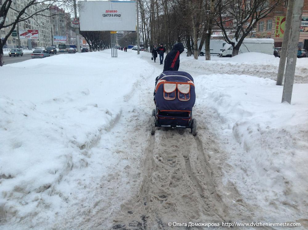Зимняя дорога на коляске в Вологде (10)