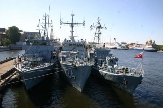 Корабли НАТО у Английской набережной в Петербурге, фото фонтанки.ру