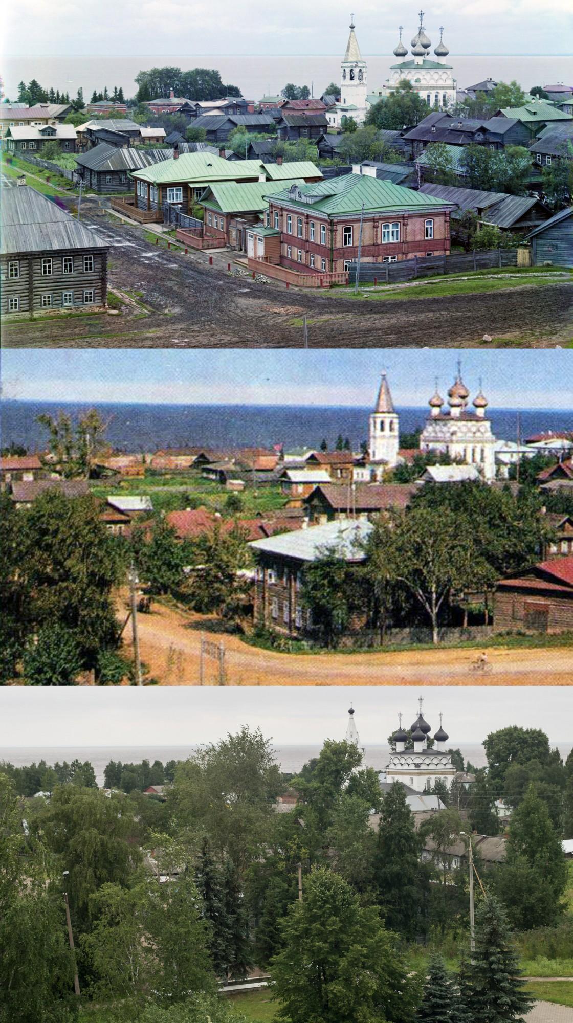 Белозерск с вала 1909-1970-2018