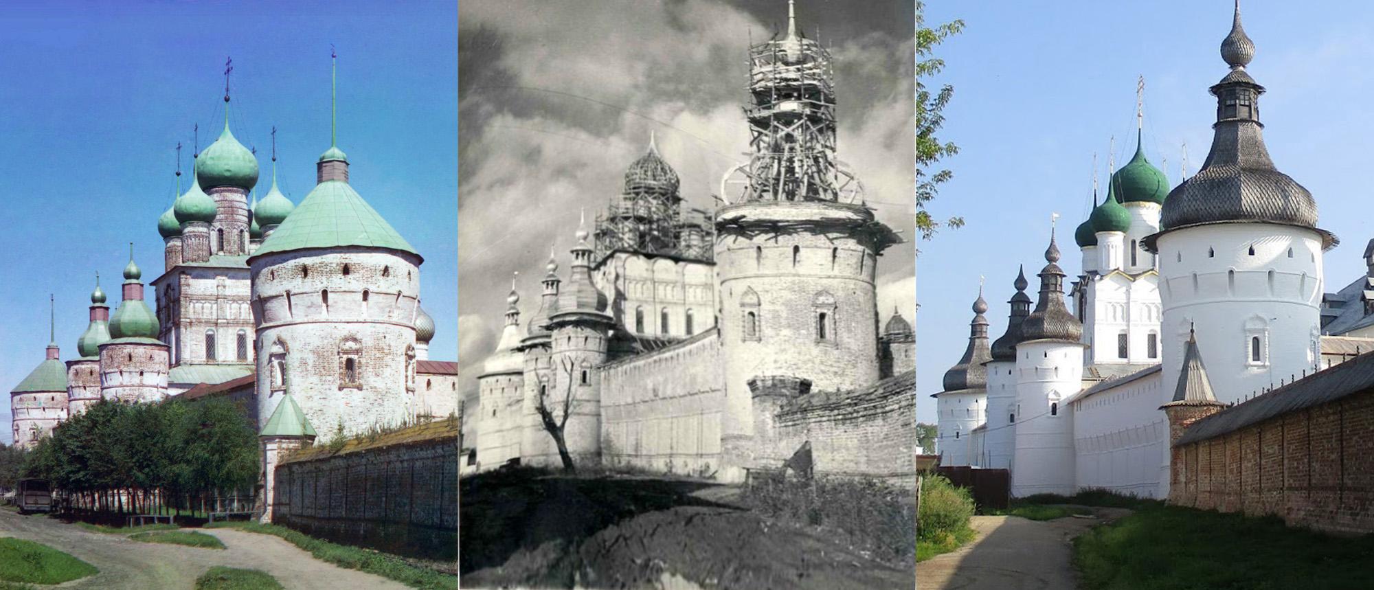 Ростовский Кремль. Западный фасад 1911-1954-2017