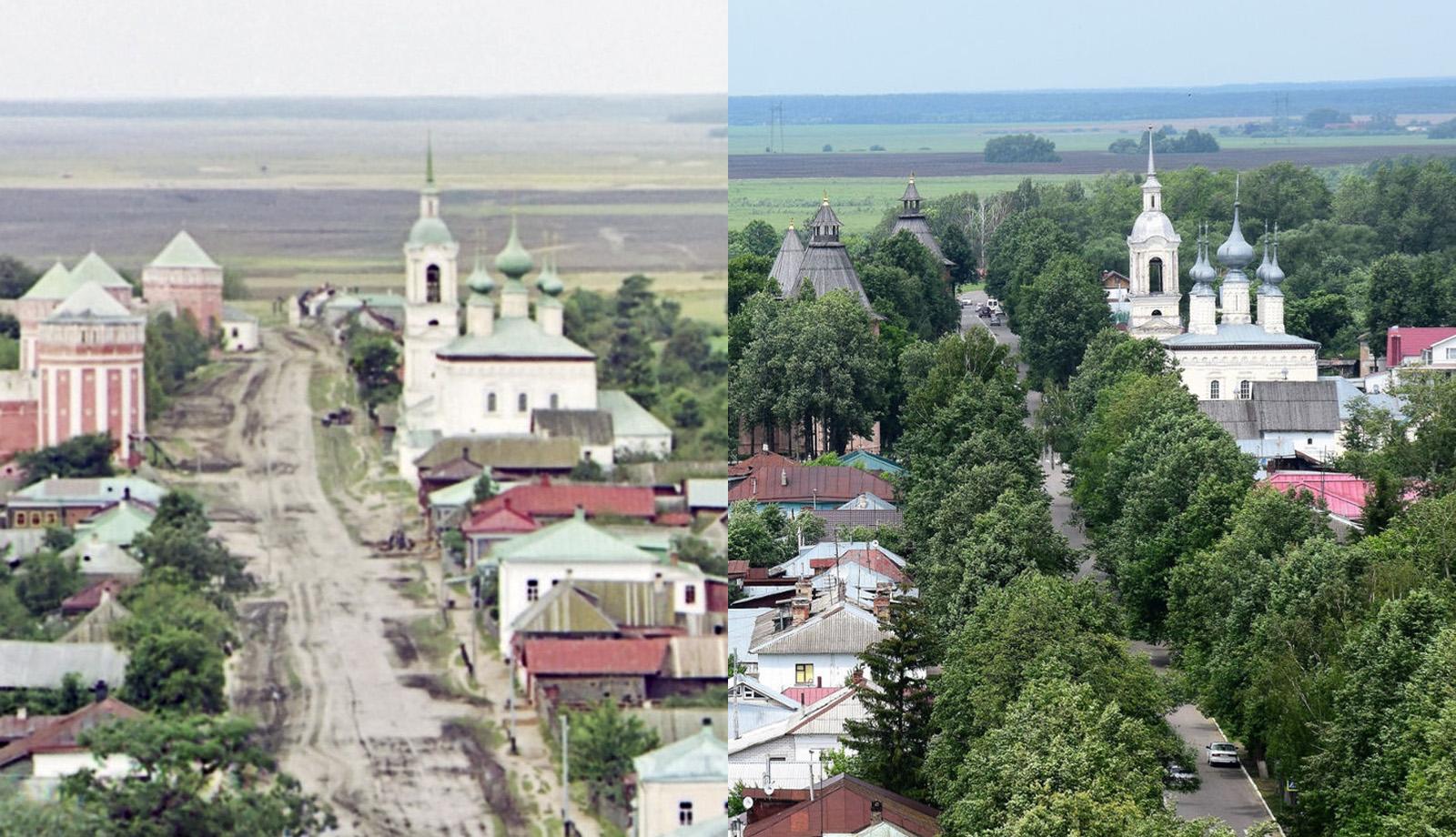 Вид на Смоленскую церковь 1912-2016