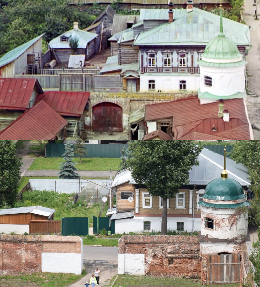 Суздаль. Башенка монастыря 1912-2016 гг