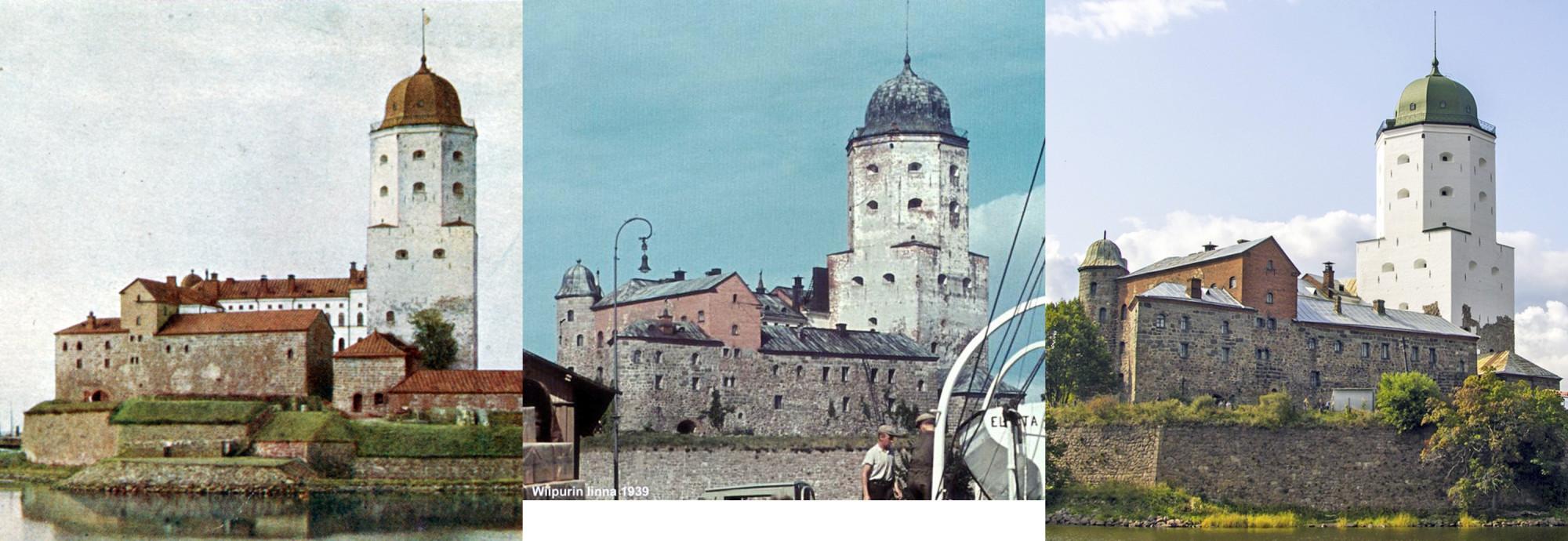 Выборгский замок 1905-1939-2018