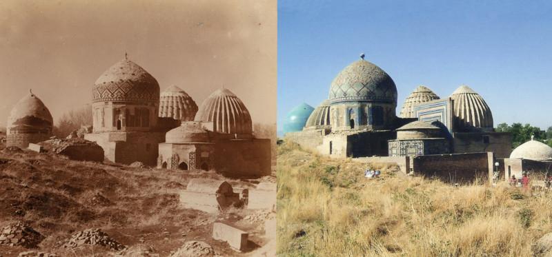 Шах-Зинде. Вид с северо-востока 1907-1999